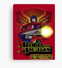 Robo With A Shotgun Canvas Print