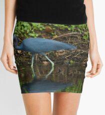 Little Blue Heron Reflection Mini Skirt
