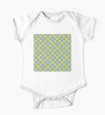 Dean's Yellow, White and Blue Plaid on Gray One Piece - Short Sleeve