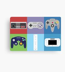 Nintendo Console Controllers Canvas Print