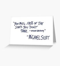 the office quote Greeting Card