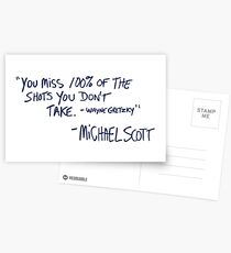 the office quote Postcards