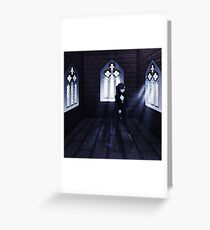 Haunted Interior and Ghost 3 Greeting Card