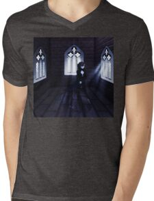Haunted Interior and Ghost 3 Mens V-Neck T-Shirt