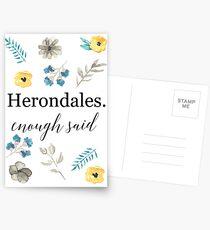 Herondales. Genug gesagt Postkarten
