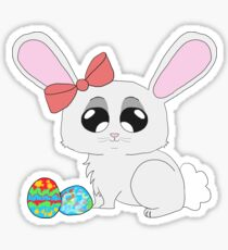 Baby Bunny w/ Easter Eggs Sticker