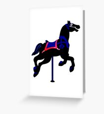 Merry go round horse VRS2 Greeting Card