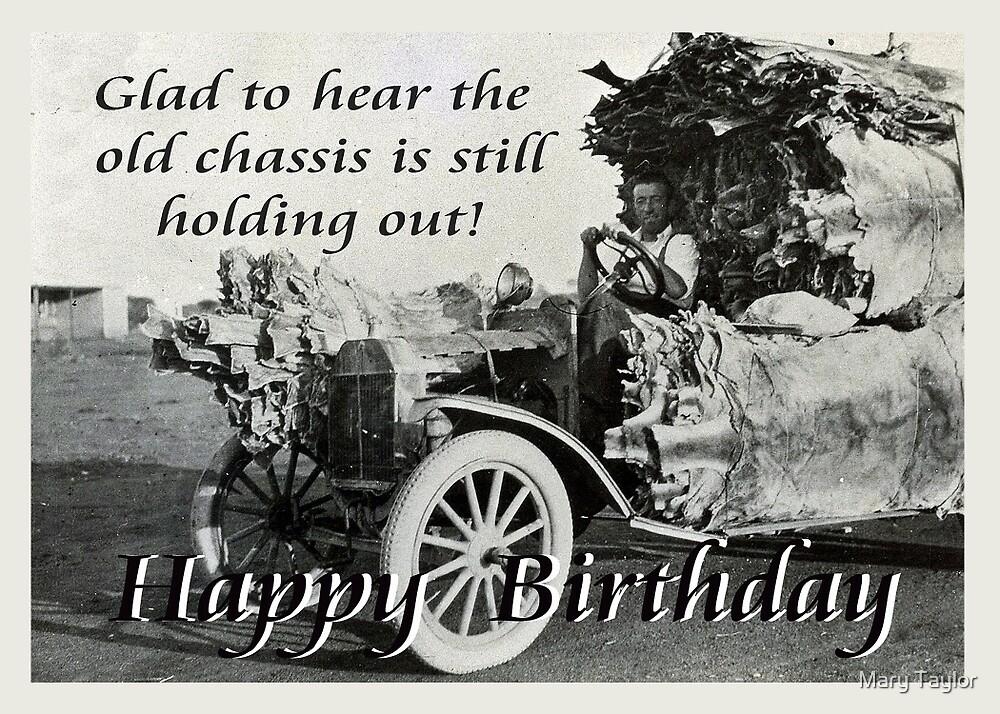 Châssis Vintage Avec Des Peaux De Kangourou Joyeux Anniversaire