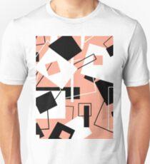 Black White & Peach 60's Style Variation Unisex T-Shirt