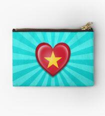 Vietnamese Heart Flag Studio Pouch