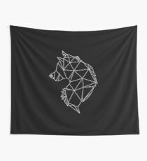 Geometric Wolf Wall Tapestry