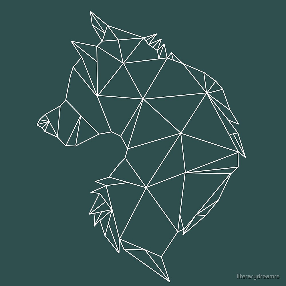 """Geometric Wolf"" by literarydreamrs 