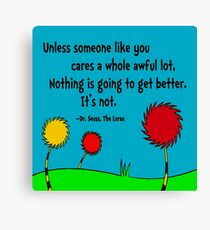 Nice Unless Canvas Print. $52.00. DR SEUSS Canvas Print