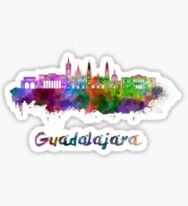Guadalajara skyline in watercolor Sticker