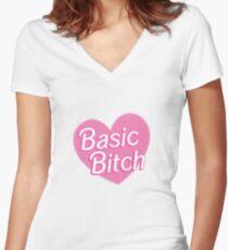 Basic Bitch Sky  Women's Fitted V-Neck T-Shirt