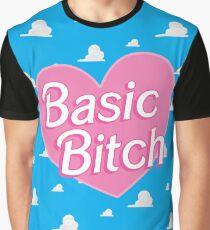 Basic Bitch Sky Blue Graphic T-Shirt