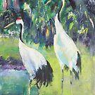 Stalking Storks by christine purtle