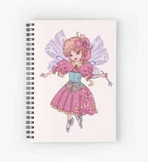 Fairy cartoon set isolated on white background with wand Spiral Notebook