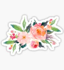 Watercolor Flower Bouquet  Sticker