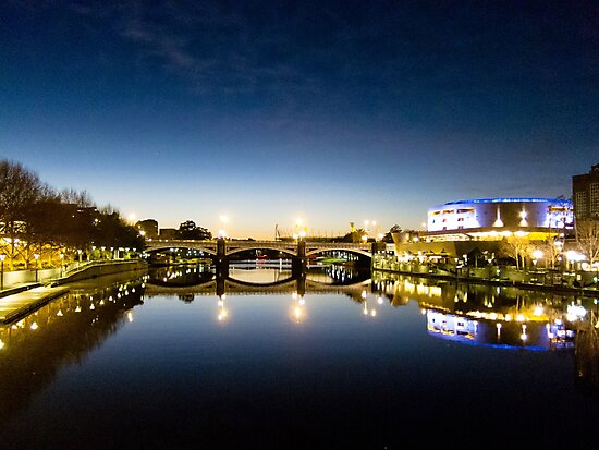 Reflecting on Melbourne - Australia by Norman Repacholi