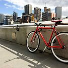 Bicycle Commute -Southbank Melbourne Australia by Norman Repacholi