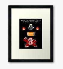 Donkey Kong Zelda Framed Print