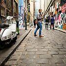 Parting Ways - Melbourne Laneways - Australia by Norman Repacholi