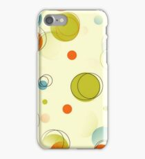 Midcentury Modern Bubble Dots Abstract Pattern iPhone Case/Skin