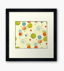 Midcentury Modern Bubble Dots Abstract Pattern Framed Print