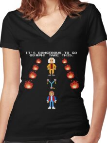 Back To The Zelda Women's Fitted V-Neck T-Shirt