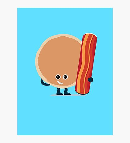 Character Building - Pancake & Bacon Photographic Print