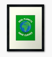 Character Building - Real Planets Have Curves Framed Print