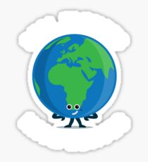 Character Building - Real Planets Have Curves Sticker