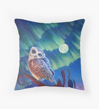 Aurora Owl Throw Pillow