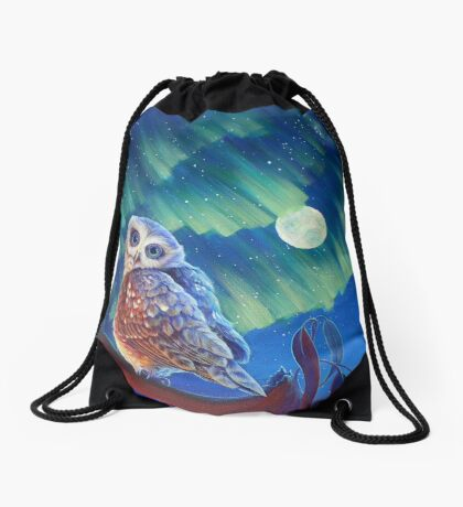 Aurora Owl Drawstring Bag