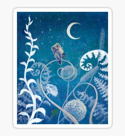 Little Amethyst Owl. Sticker