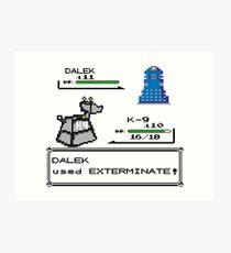 Doctor Who Pokemon Battle Art Print
