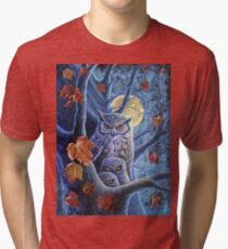 Harvest Moon Owls Tri-blend T-Shirt
