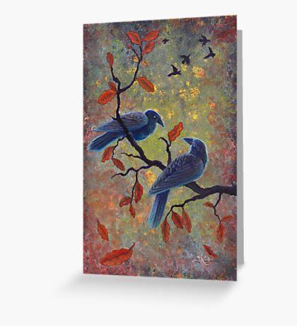 Autumn Ravens Greeting Card