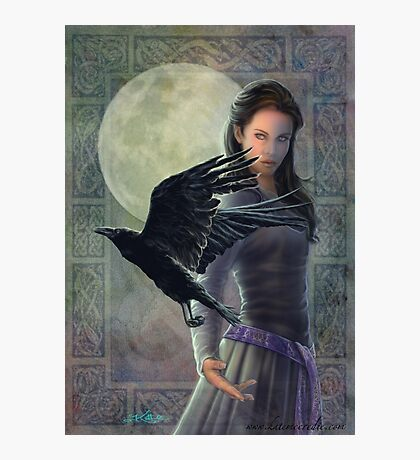Celtic Raven Photographic Print