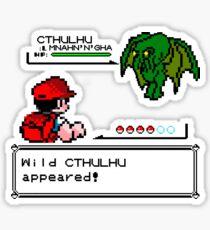 Cthulhu Pokemon Battle Sticker