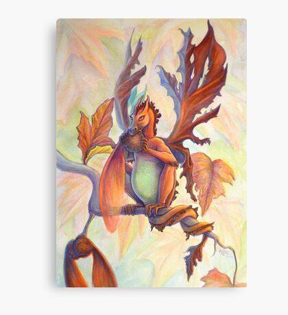 Maple Leaf Fairy Dragon Canvas Print