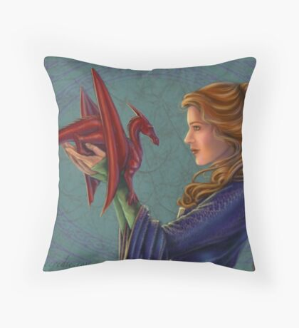 Young Red Dragon Throw Pillow