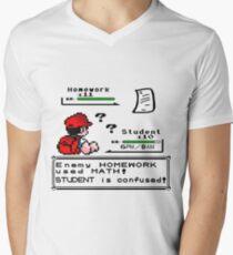 Homework Pokemon Battle Men's V-Neck T-Shirt