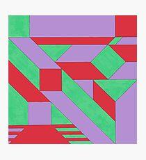 Gestalt Red, Green & Purple Photographic Print