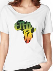 Ethiopia in Africa - Black Women's Relaxed Fit T-Shirt