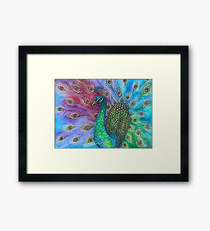 The Perfect Peacock. Framed Print