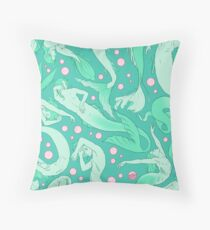 Tails of the Deep Throw Pillow