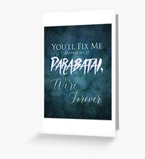 Parabatai - Lady Mindnight Greeting Card