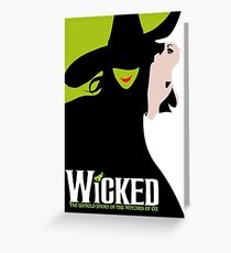Wicked Broadway Musical Greeting Card